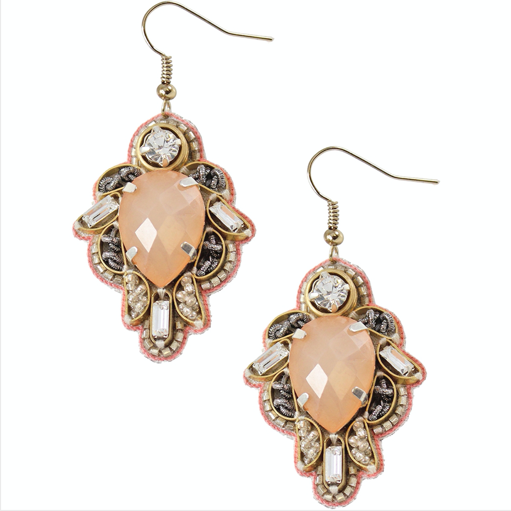 Classic Peach Earrings