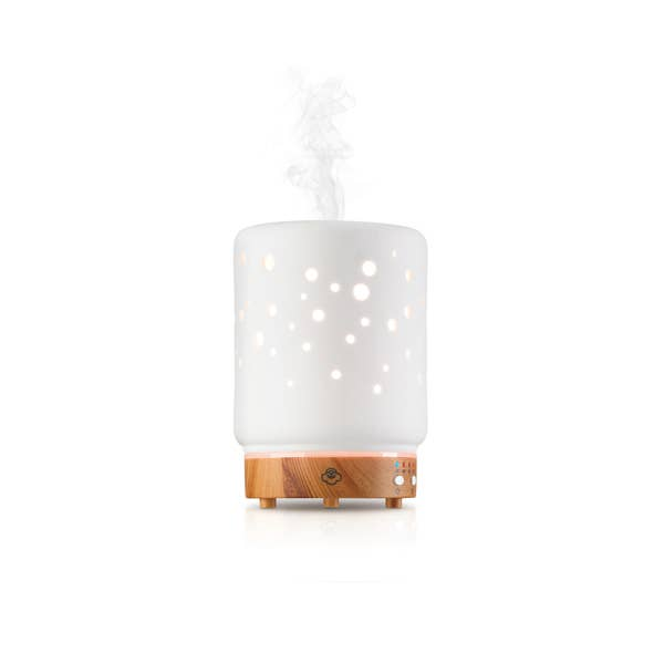Starlight Ceramic Essential Oil Diffuser w/ LED Lights