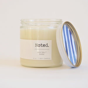 Noted. Sea Salt Glass Jar Candle - Large