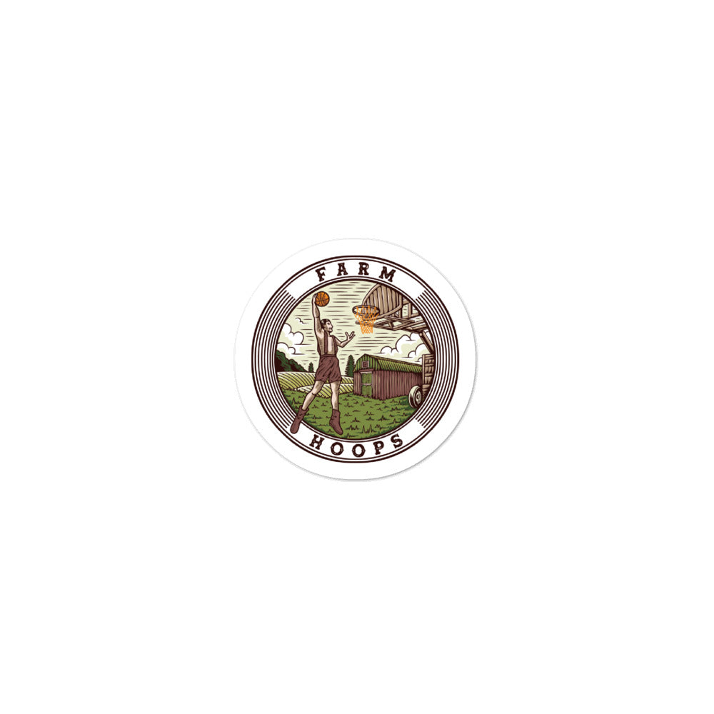Farm Hoops Sticker