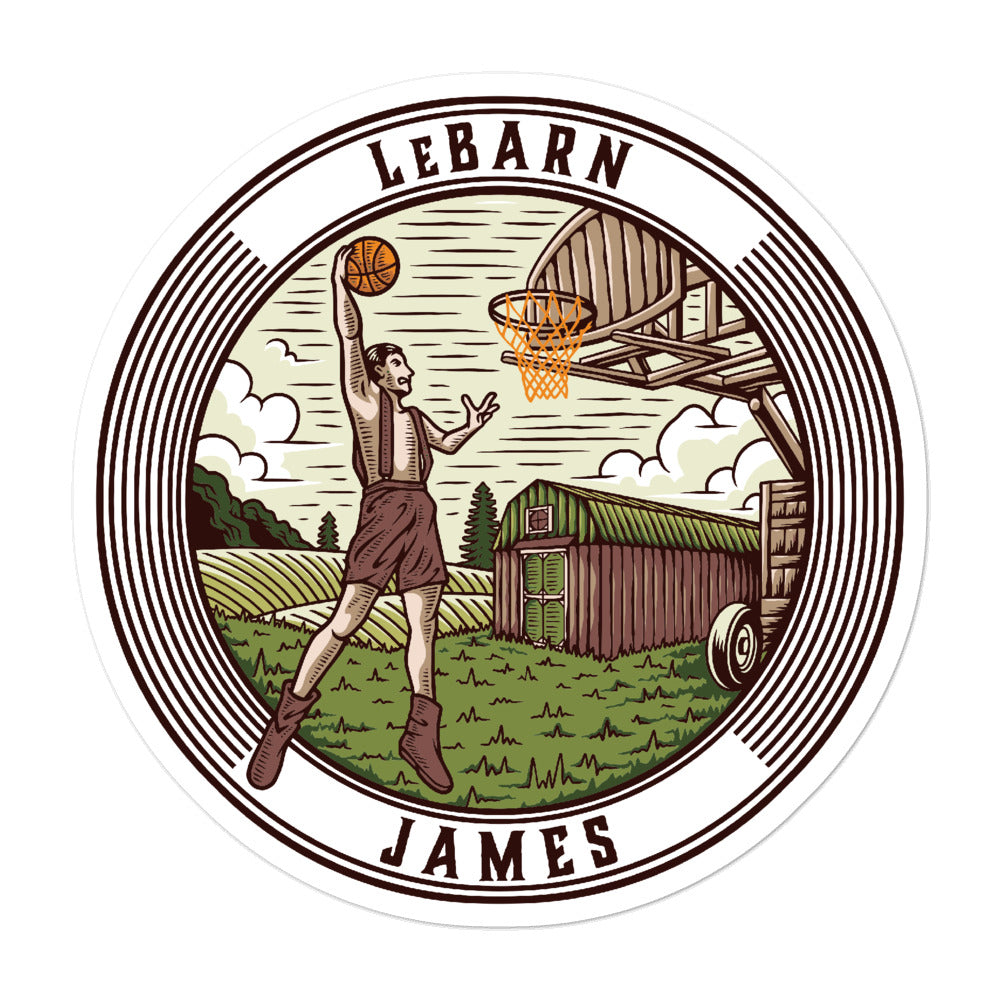 LeBarn James Sticker