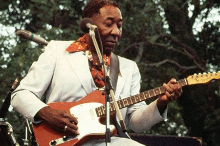 Muddy Waters with his red legendary telecaster