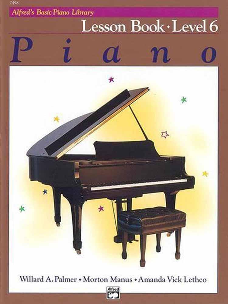 Alfred's Basic Piano Library - Lessonbook Deel 6 (5505896841380)