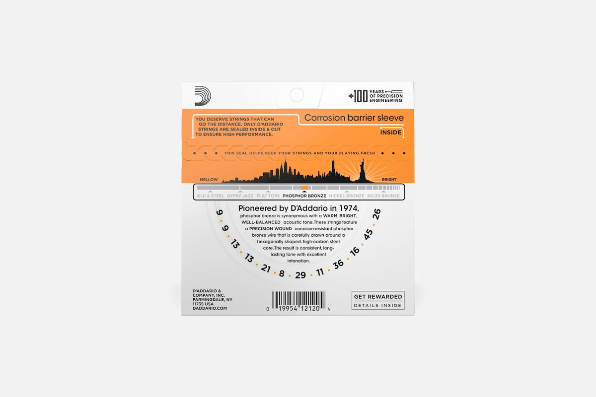 D'Addario EJ41 Phosphor Bronze Extra Light 009-045