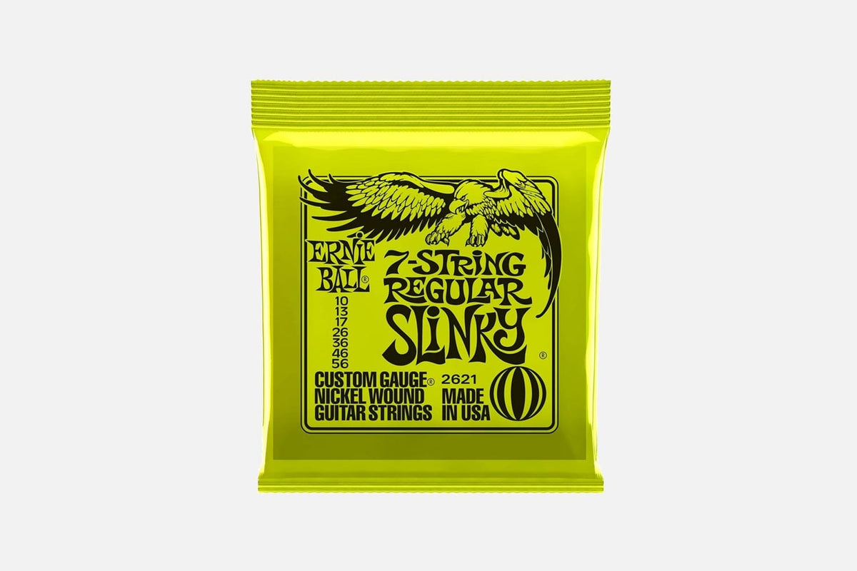 Ernie ball 7-string Regular Slinky 2621 nickel wound 010-056