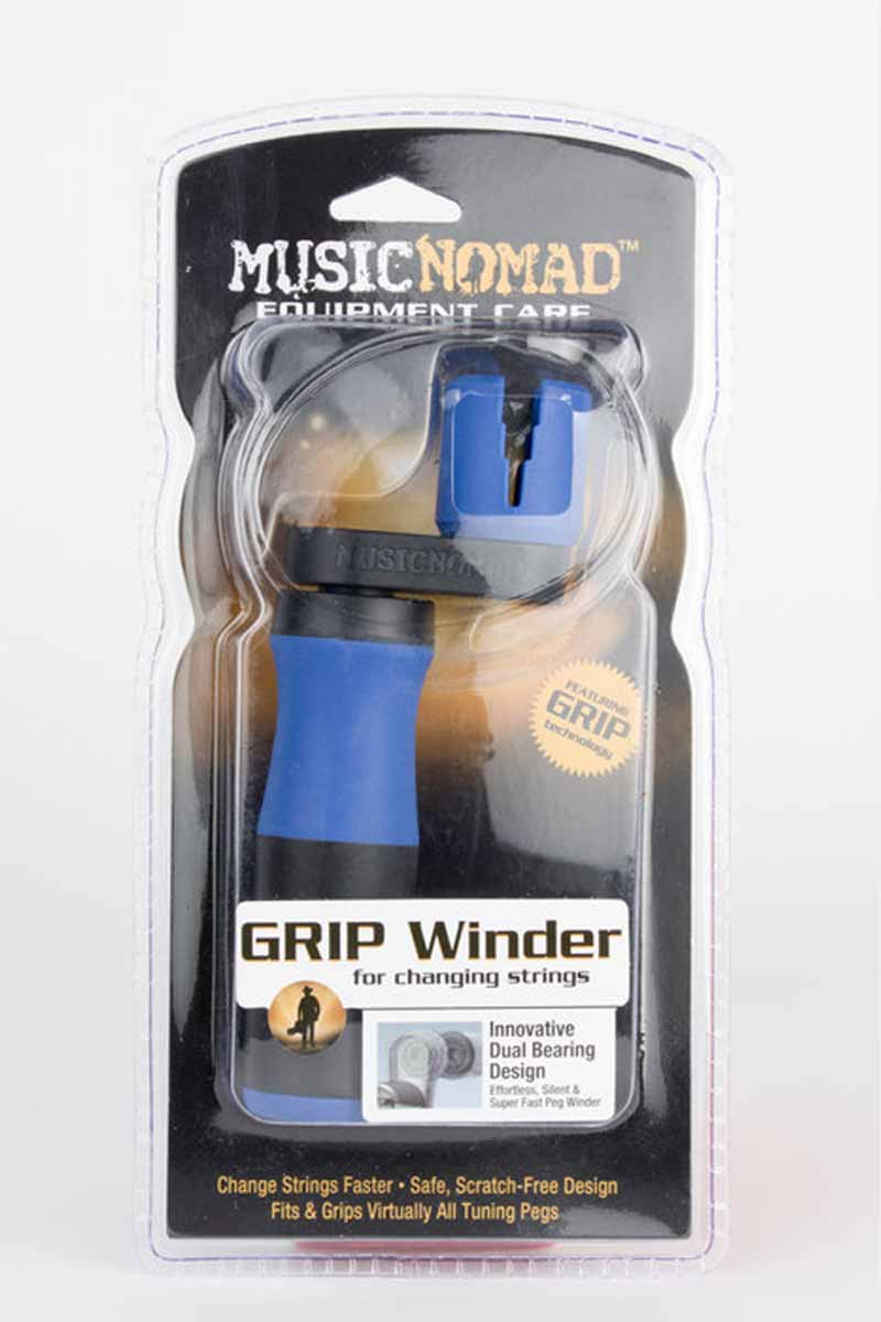 Music Nomad GRIP Winder - Rubber Lined, Dual Bearing Peg Winder - MN221 (5482784981156)