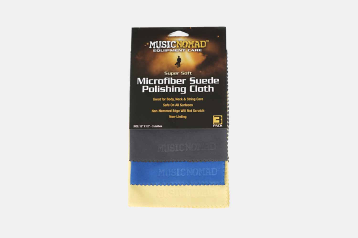 Music Nomad Microfiber Suede Polishing Cloth Pak - MN203 (5482336583844)