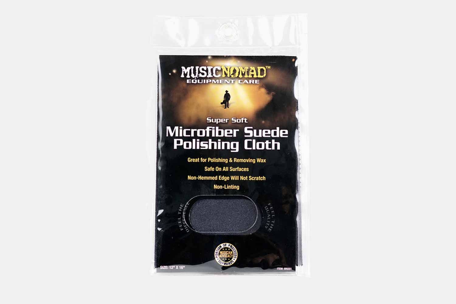 Music Nomad Super Soft Edgeless Microfiber Suede Polishing Cloth - MN201 (5481993928868)