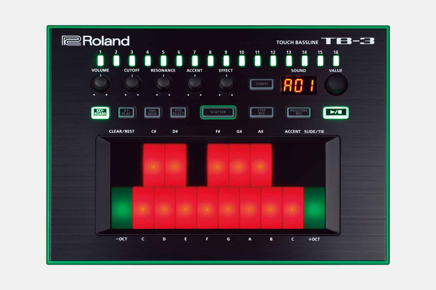 Roland TB-3 Touch Bassline Bas-synthesizer Aira (5424943530148)