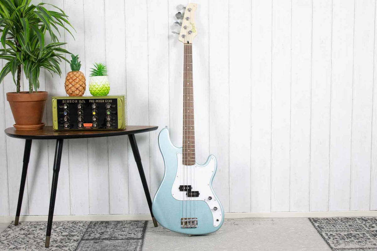 Cort GB54 JJ P - Basgitaar Sea Foam Pearl Green (5398840049828)