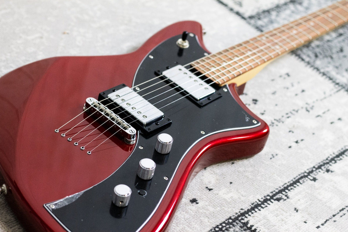 Fender Meteora PF Candy Apple Red (5482375970980)