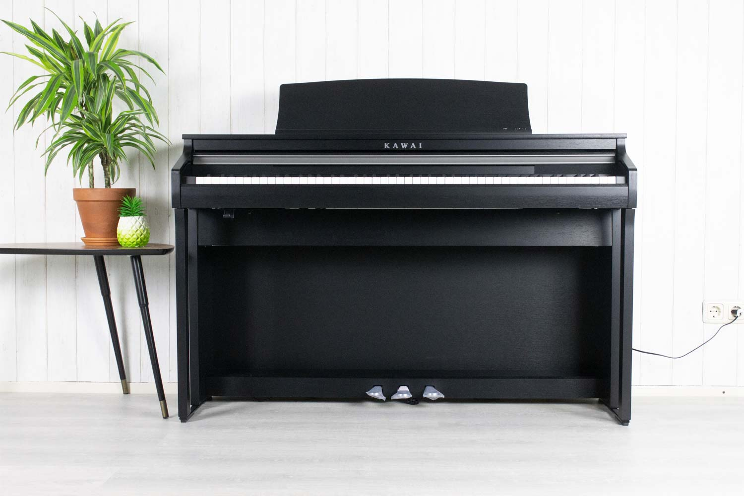 Kawai CA48 Satin Black digitale piano (5407633473700)