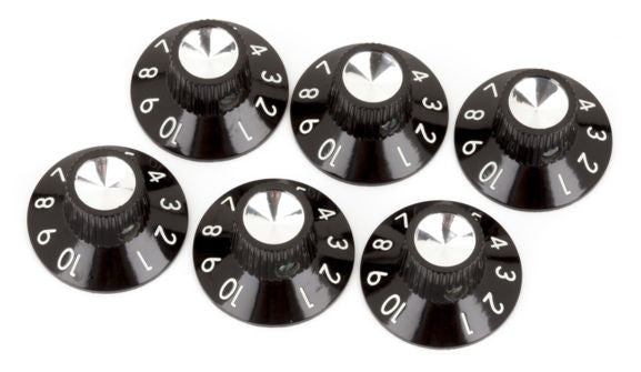 Amp knob - skirted black/silver 1-10 - genuine Fender®