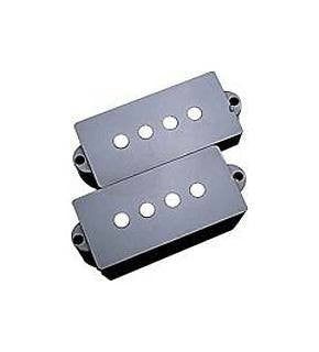 Pickup covers for Precision Bass - black plastic (2) - genuine Fender