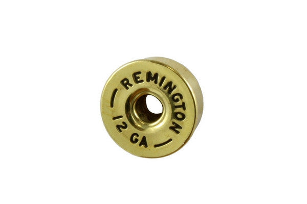 Knobs - metal 12 GA shotgun shell knob, push-on, fits split shaft pots
