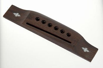 Guitar bridge - Acoustic guitar bridge with snow flake inlay