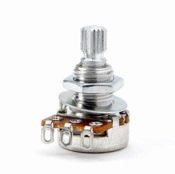 Potentiometer - 50K mini pot audio taper split knurled shaft
