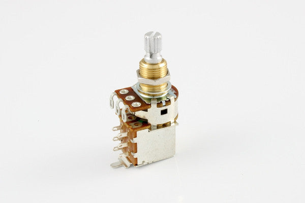 Potentiometer - 250K push/pull audio taper pot - Bourns - split shaft