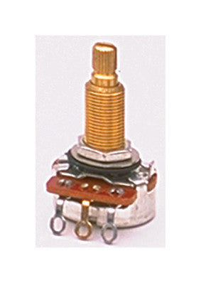 Potentiometer - 25K audio pot 3/4 inch long threaded bushing CTS split shaft