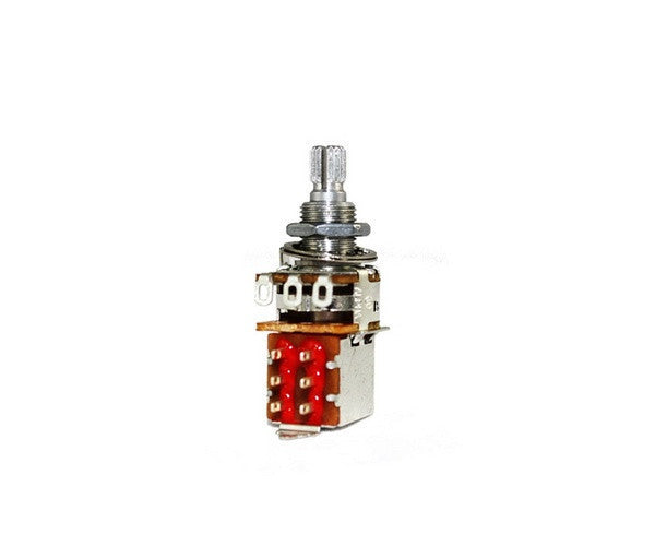 Potentiometer - 500K push/pull audio taper potentiometer w split knurled shaft
