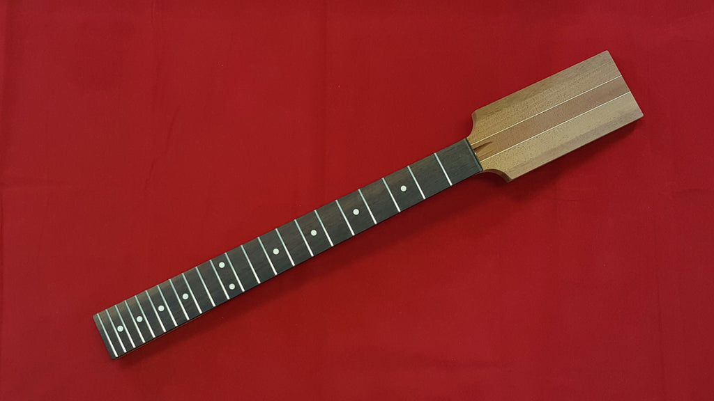 Guitar neck - paddle head neck w angled headstock - 25-1/2 inch scale