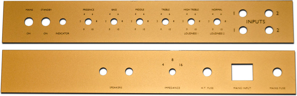 Amp faceplate set for JTM 45 - includes front and rear faceplate