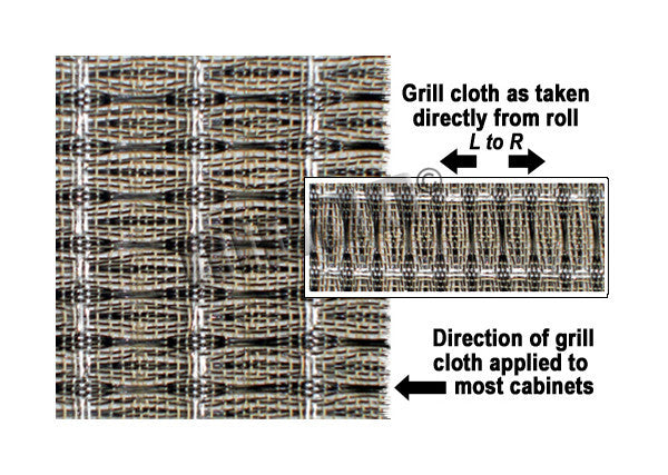 "Amp grill cloth - Ampeg style - black/silver - 36"" width (per yard)"