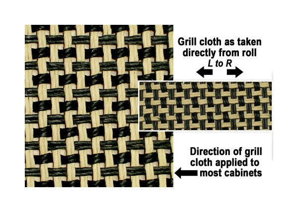 Amp grill cloth - Marshall style - salt & pepper - 32 inch wide (per yard)