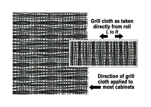 "Amp grill cloth - Fender style - black - 36"" wide (per yard)"