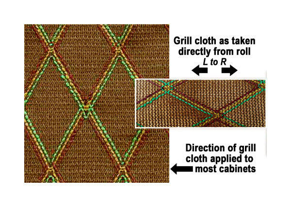 "Amp grill cloth - Vox style - brown diamond - 43"" width (per yard)"