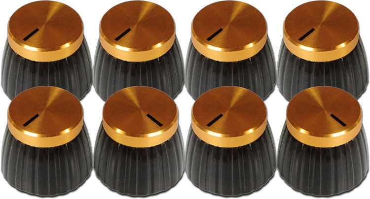 Mojotone British style amp knob - set screw (8) - click for colour options