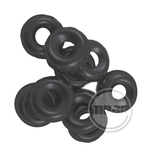 Amp washers - decorative washers - black oxide large (doz)