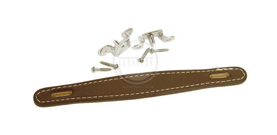 Amp handle - Fender style Flat Brown leather