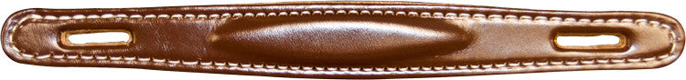 Amp handle - American Made Fender Style Raised Brown Leather Handle (w/ Hardware)