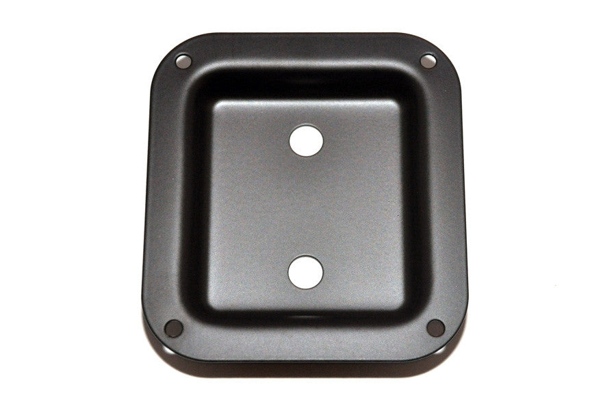 Jackplate for speaker cabinet - recessed - for 2 jacks - metal