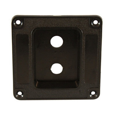 Jackplate for speaker cabinet - recessed - for 2 jacks - plastic