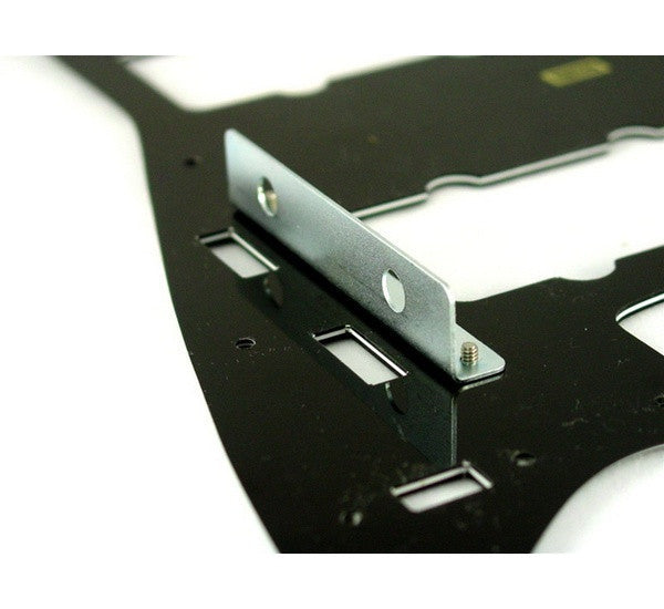 Bracket for holding pots to Jazzmaster® pickguard, with mounting screws