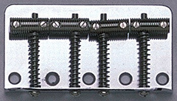 Bass bridge -- Vintage bass bridge assembly - w threaded rod saddles & fixing screws - genuine Fender