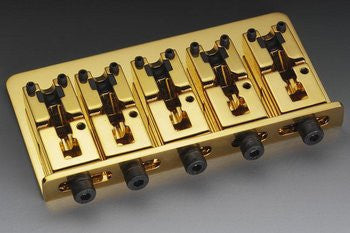 Schaller 5-string bass bridge steel w adjustable spacing