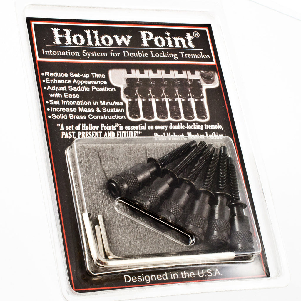 Hollow Point® intonation system for double locking Floyd Rose® style and Ibanez® Edge tremolos.