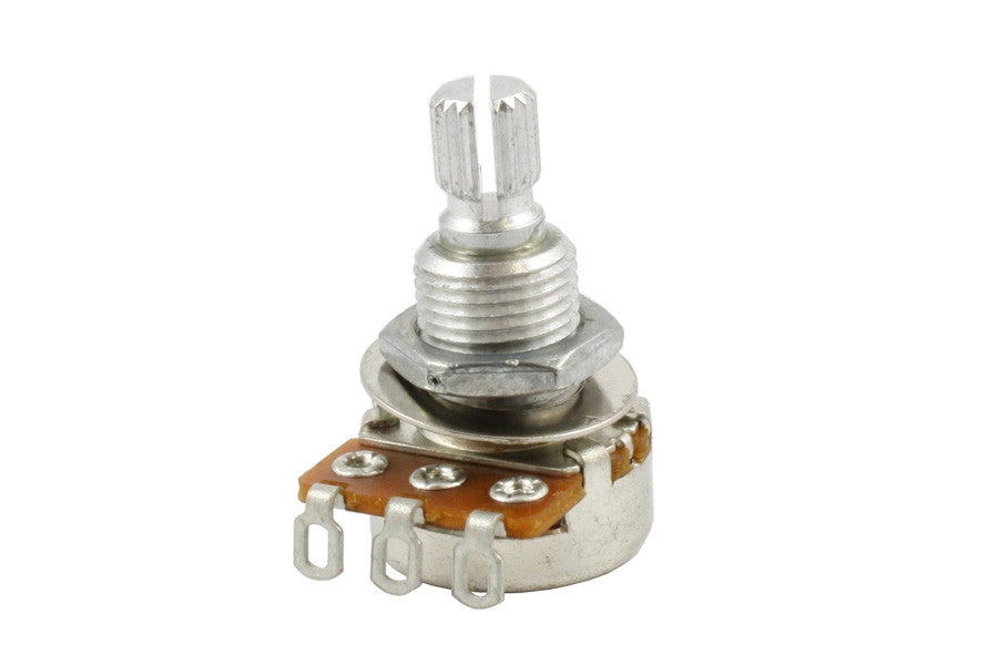Potentiometer - 25K mini pot audio taper split knurled shaft