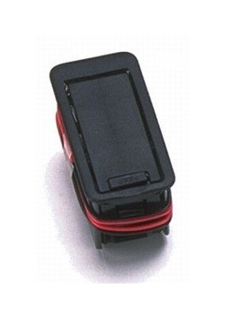 Battery compartment w access door  9-volt  edge uppermost