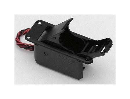Battery compartment w access door  9-volt  edge uppermost - flange mount