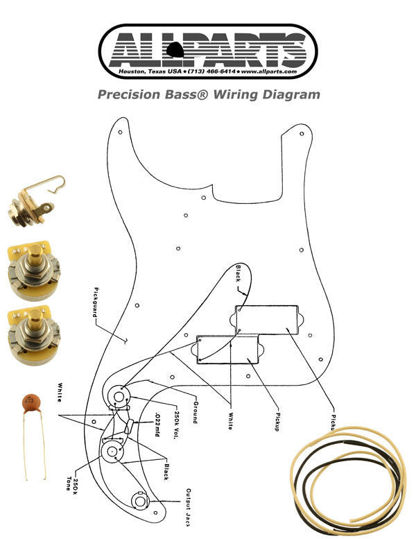 Wiring kit for PBass®