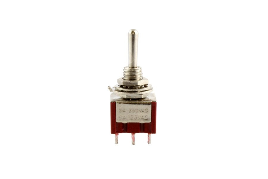 Switch - On-on mini switch - DPDT - round bat - with mounting hardware
