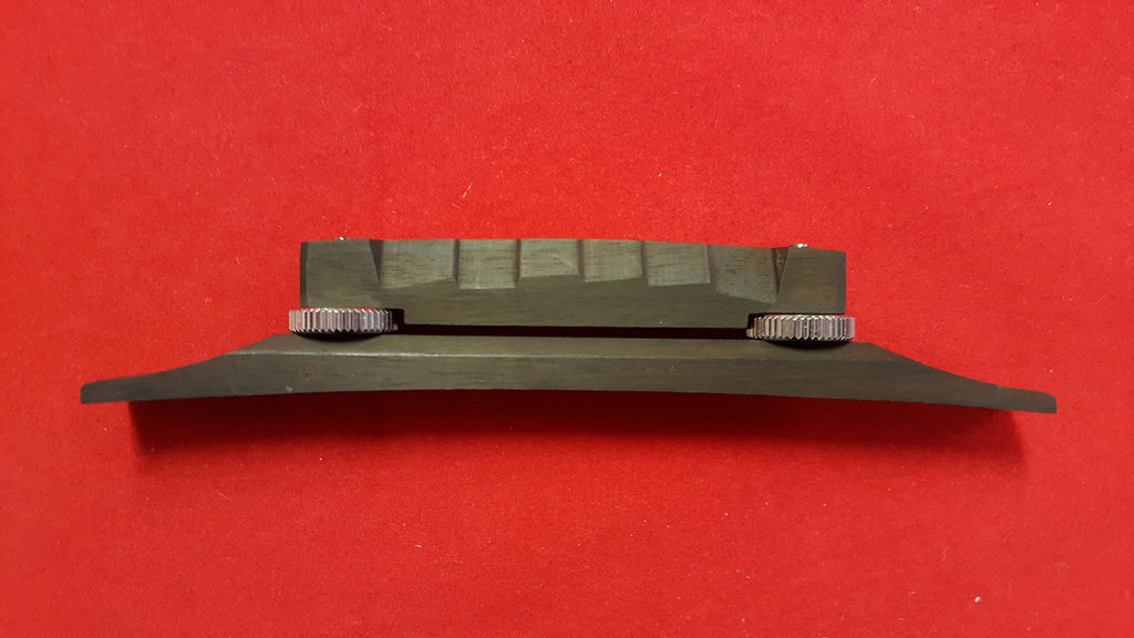 Compensated bridge and base for arched-top guitar - ebony