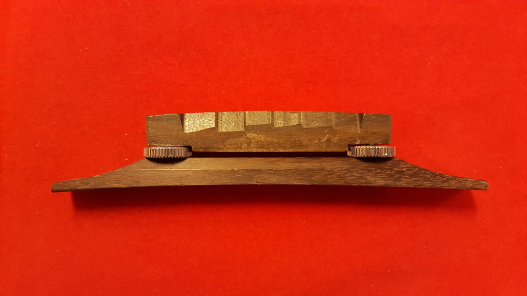 Compensated bridge and base for arched-top guitar - rosewood