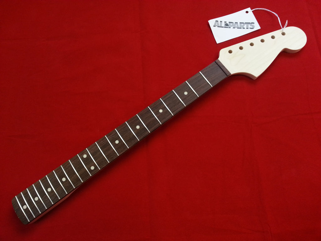 Guitar neck - replacement neck for Jazzmaster® - Rosewood fingerboard - no finish