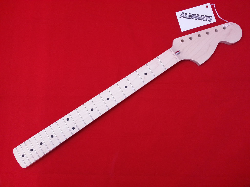 Guitar neck - Large Headstock neck - solid maple - no finish