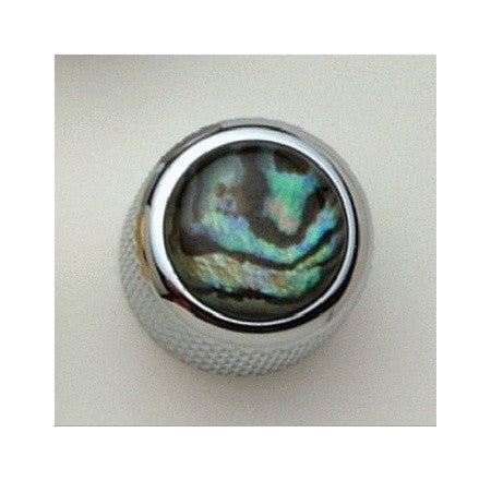 Dome metal knob w natural abalone inlay